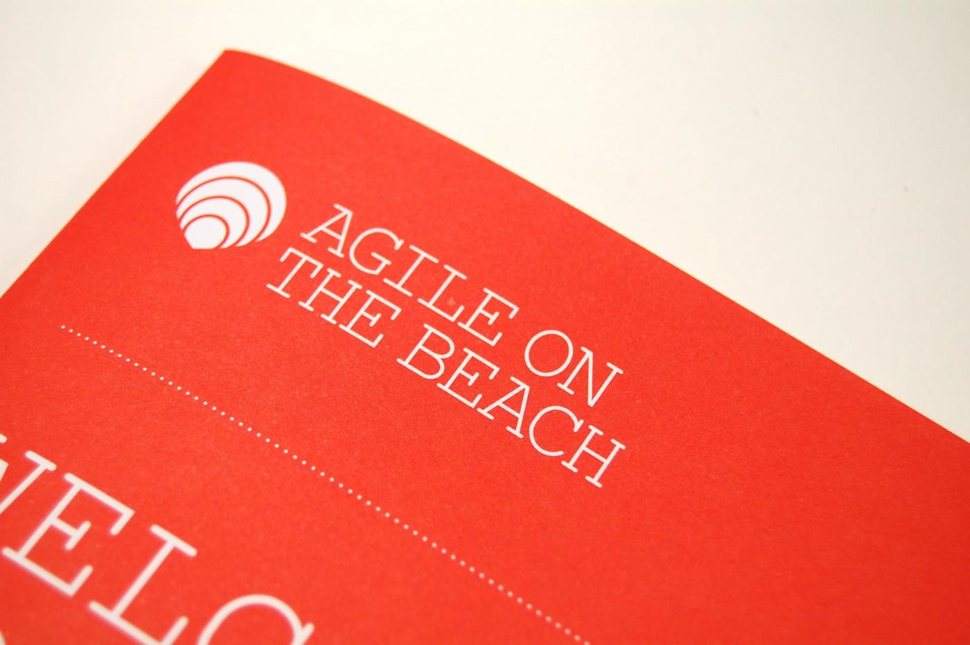 agile on the beach brand identity logo design