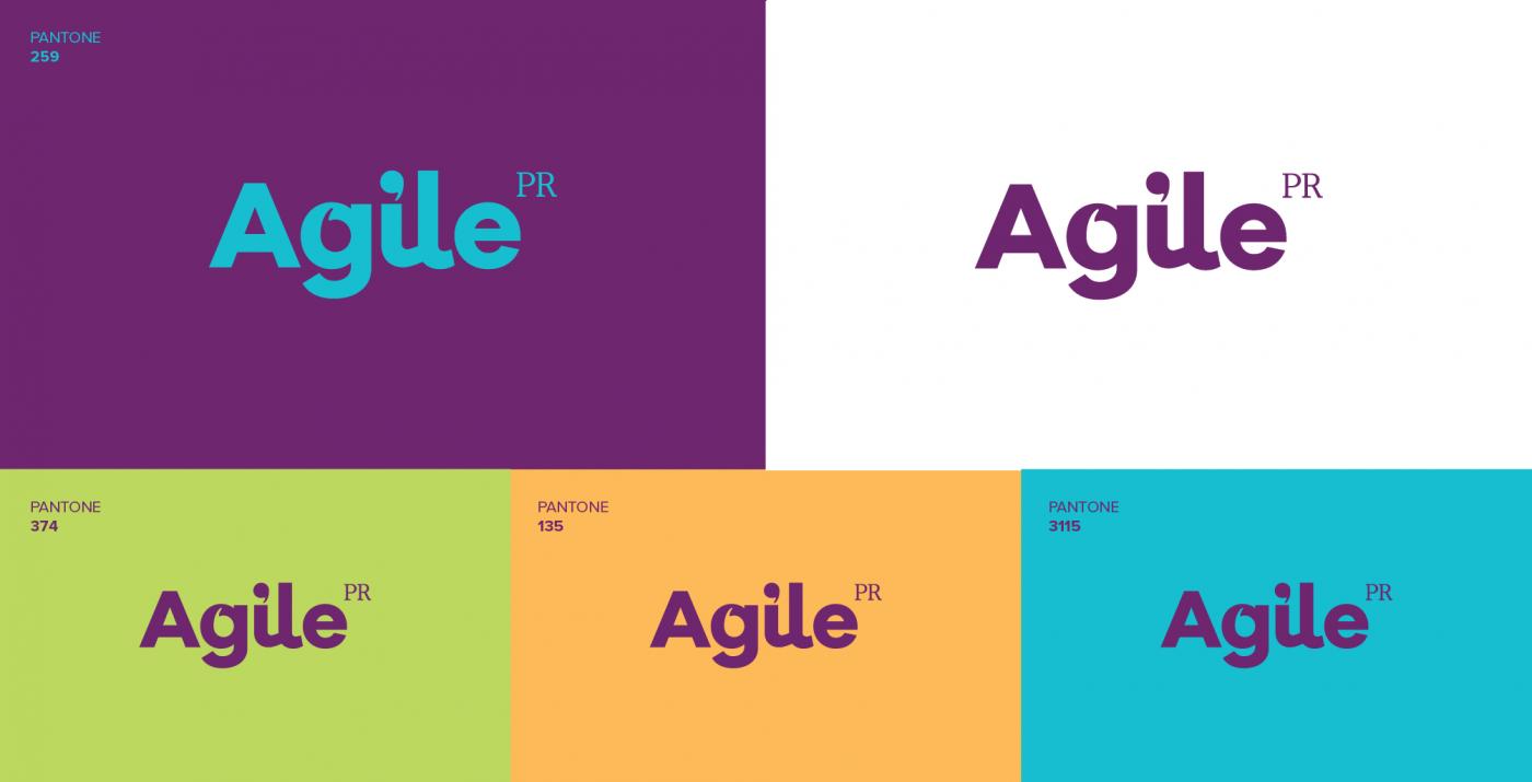 logo design agile PR