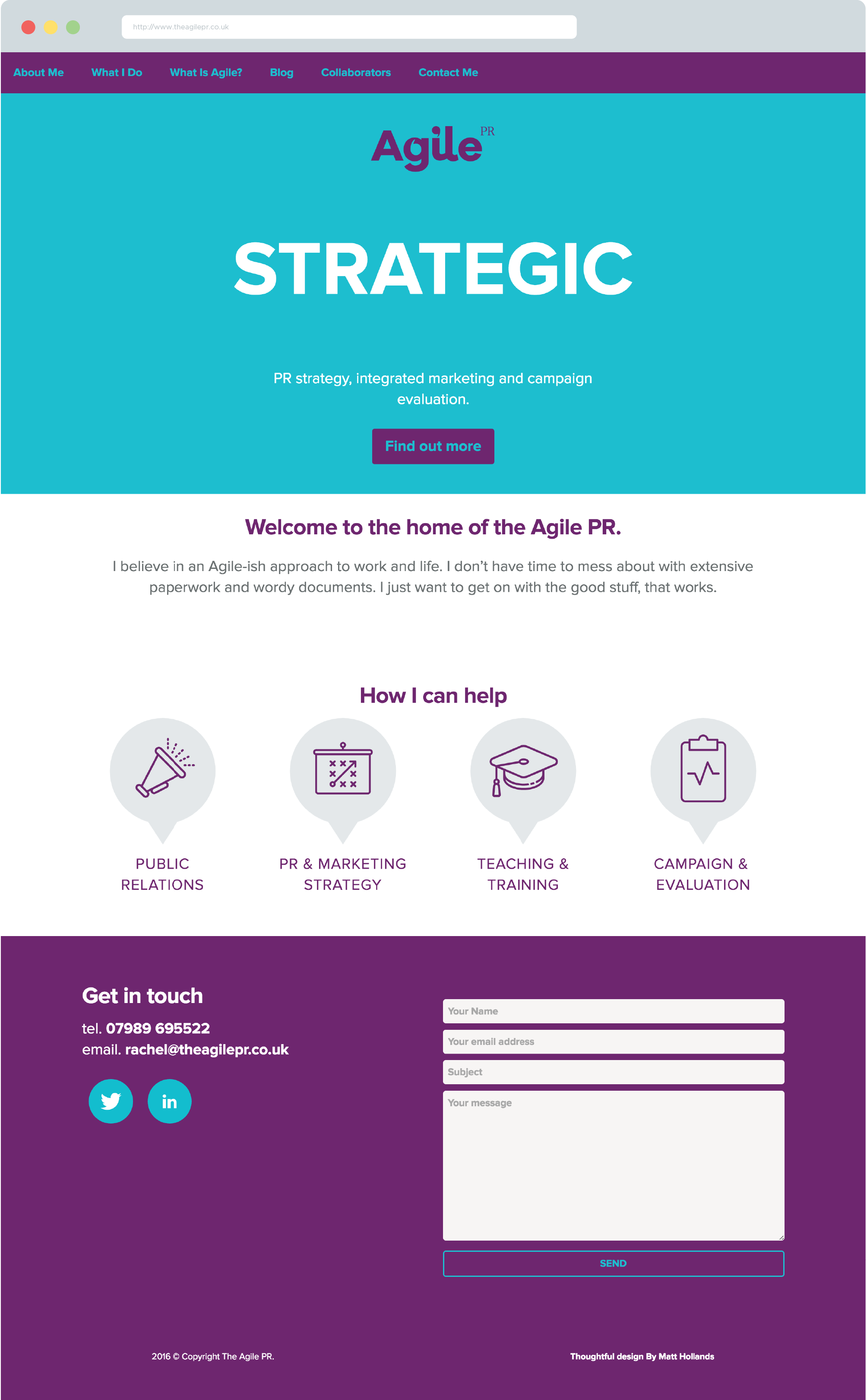 website design agile pr