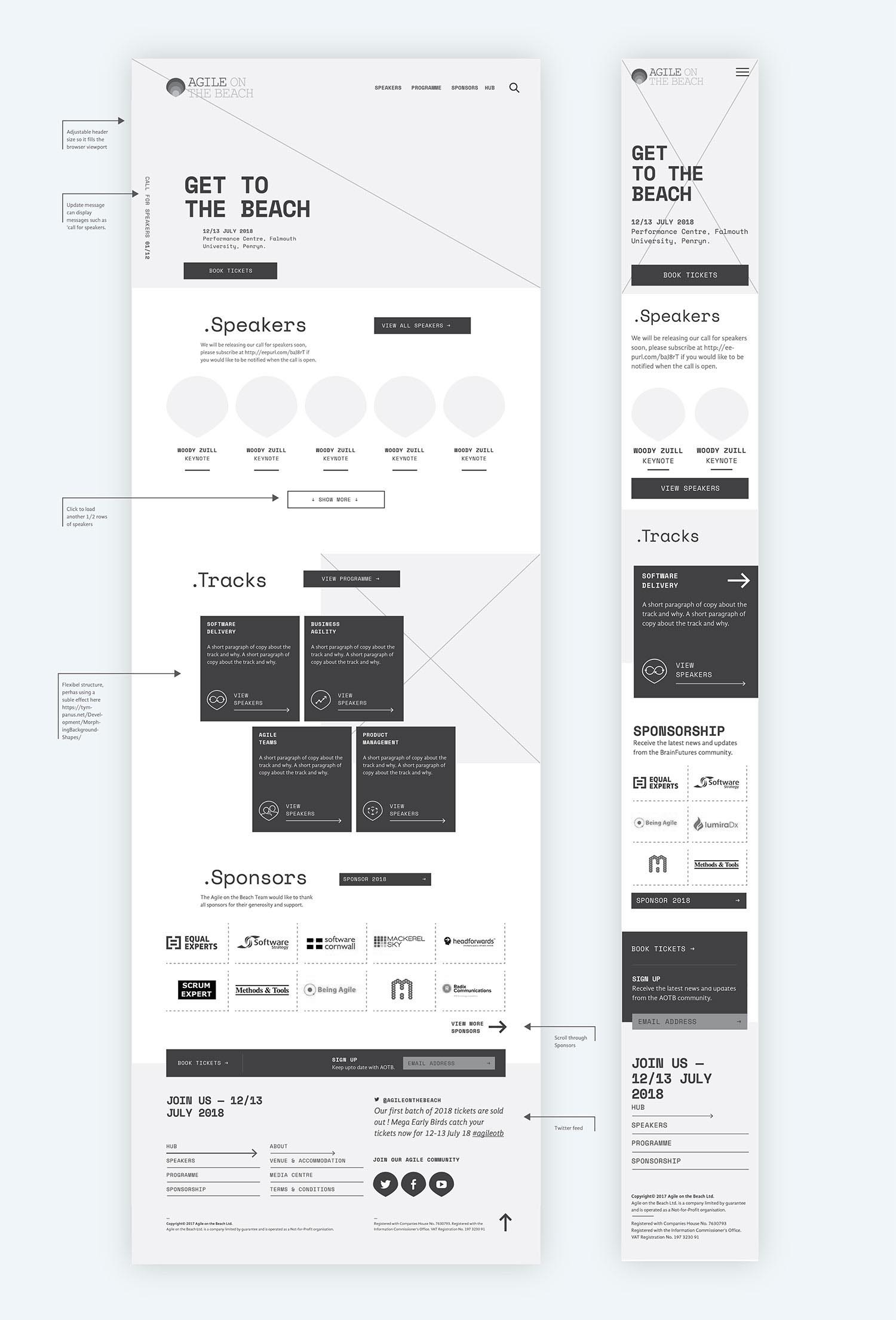 website design ux design agile on the beach